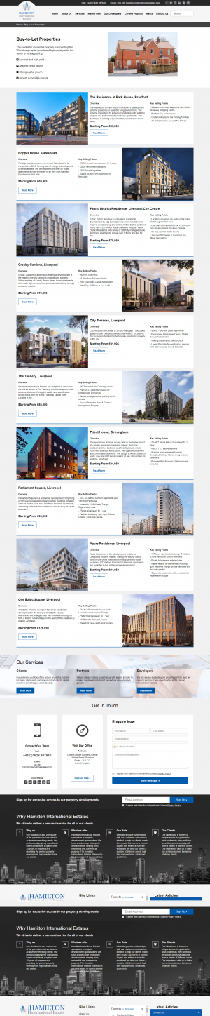 Hamilton International Estates Website Layout 11