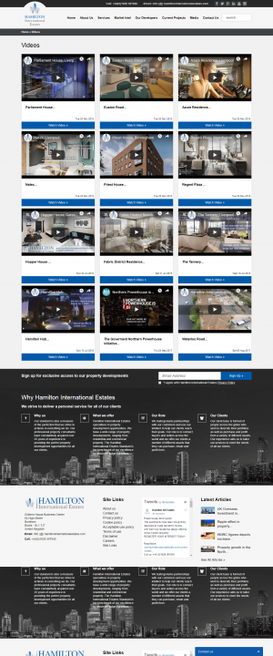 Hamilton International Estates Website Layout 12