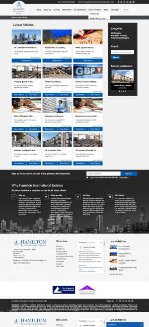 Hamilton International Estates Website Layout 13