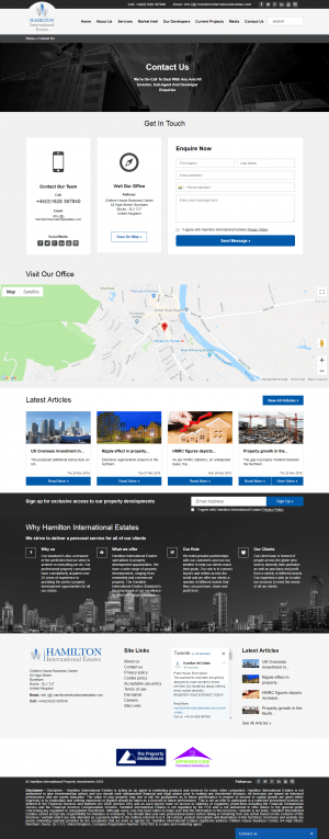 Hamilton International Estates Website Layout 14