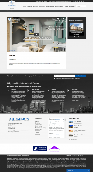 Hamilton International Estates Website Layout 15