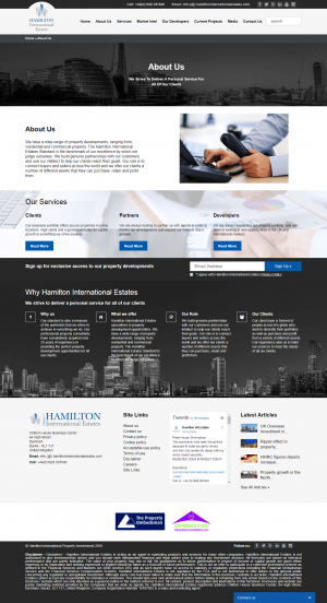 Hamilton International Estates Website Layout 4