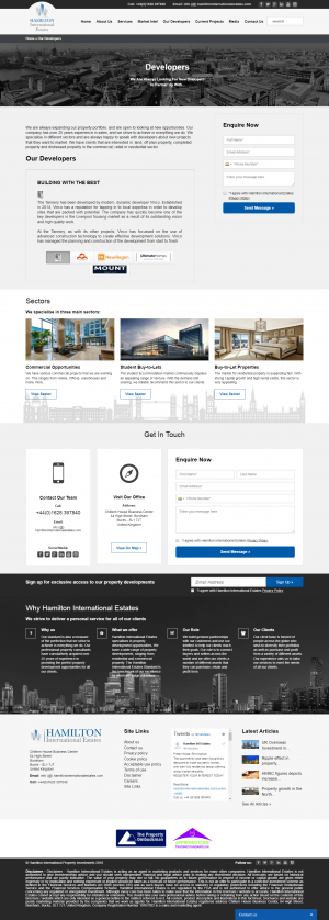 Hamilton International Estates Website Layout 8
