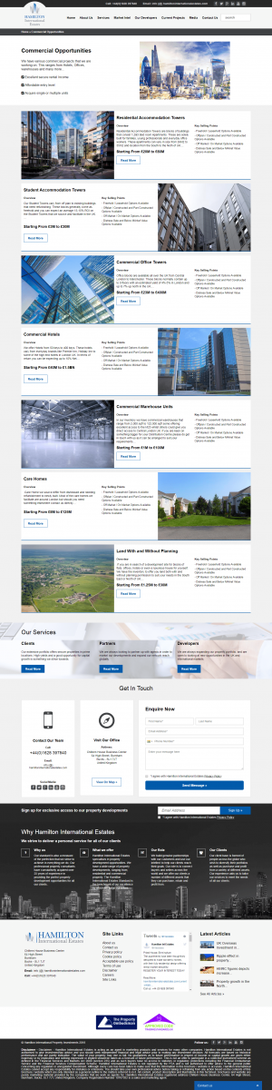 Hamilton International Estates Website Layout 9
