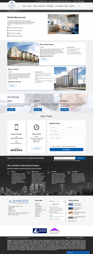 Hamilton International Estates Website Layout 10