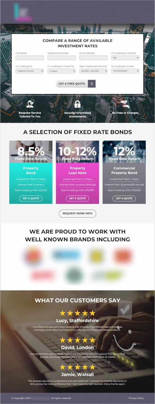 Secure Team Invest_Landing Page